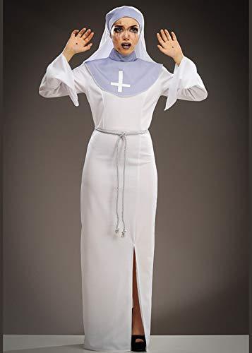 Disfraz de Monja Blanca Asylum Horror Story para Mujer Medium (UK 12-14)