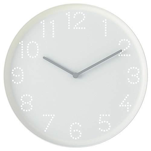 Orologio da parete bianco TROMMA 25 cm Silence Night Abbastanza Quarzo Orologio *Brand Ikea*