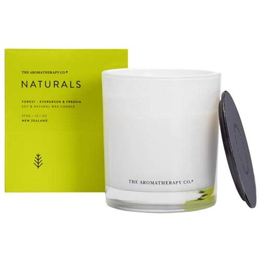 裕福な許容できる栄光アロマセラピーカンパニー(Aromatherapy Company) new NATURALS ナチュラルズ Candle キャンドル Forest フォレスト(森林) Evergreen & Freesia エバーグリーン&フリージア