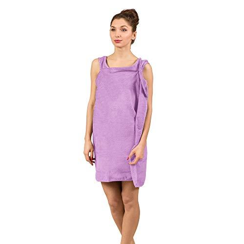 Froster Toalla-Albornoz, Toalla de Sauna para Mujer (Violeta)