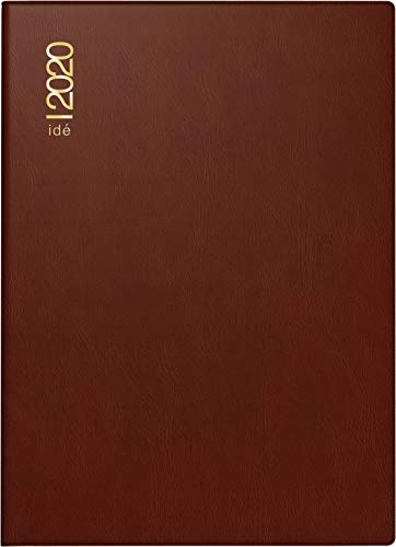rido/idé 701300229 Taschenkalender perfect/Technik I (2 Seiten = 1 Woche, 100 x 140 mm, Kunststoff-Einband bordeaux, Kalendarium 2020)