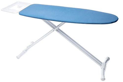 TIVIT Ironing Board with Pad & Cover - Laguna 16 x 47 - Lightweight Aluminum Legs, Adjustable Height, Metal Mesh Top, Iron Rest with Clothes Hanging Rail & Child Safety Lock System - Made in Italy