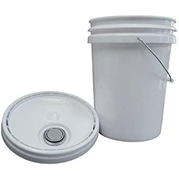 Air Sea Containers 5 Gallon HDPE UN Certified Pail with Snap-On Lid - White