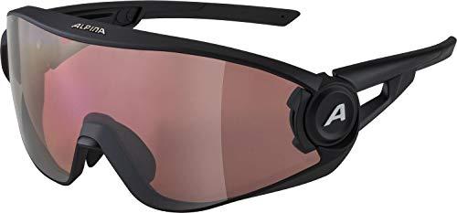 ALPINA Unisex - Erwachsene, 5W1NG Q Sportbrille, black matt, One Size