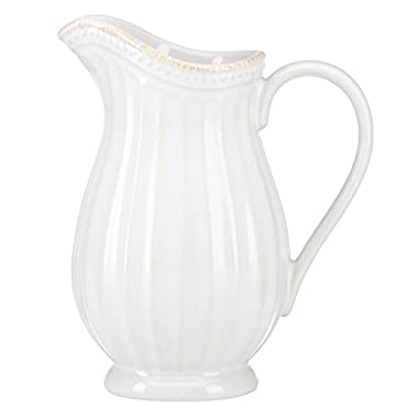 Lenox French Perle Groove Pitcher, Mini, White