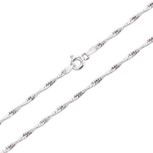 Schöner-SD Singapurkette Silberkette Halskette gedreht 925 Silber 55cm