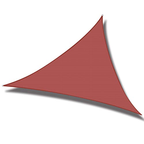 Cool Area 10' x 10' x 10' Triangle Sun Shade Sail for Patio Garden Outdoor, UV Block Canopy Awning, Terra
