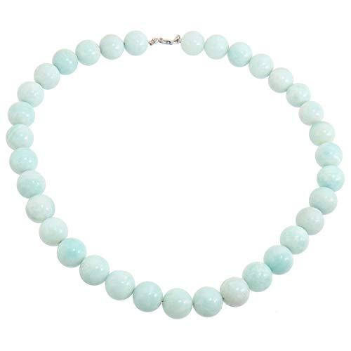Yvesse Damen Collier Halskette für Frauen Mädchen Mutter Sterling-Silber 925 rhodiniert Amazonit Geschenk