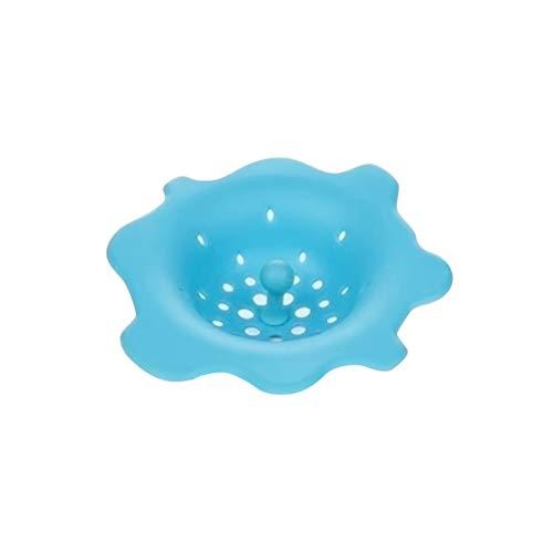 BESTonZON Waschbecken Filter Badewanne Haarsieb Silikon Küche Spüle Sieb (Blau)