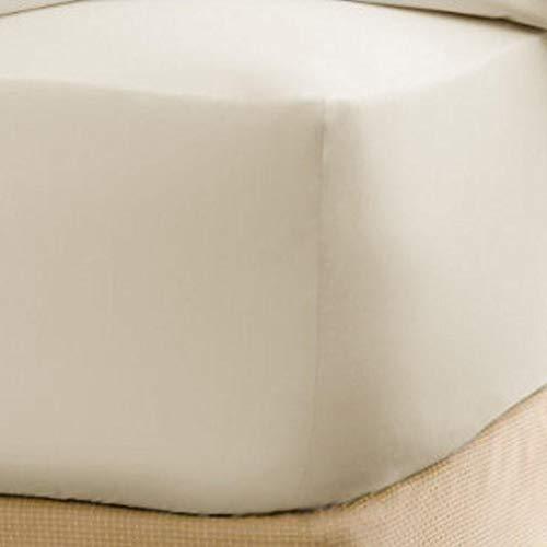BlueberryShop, stijlvol jersey-hoeslaken van katoen, geschikt voor extra hoge (40 cm) en grote matrassen voor tweepersoonsbedden, crèmekleurig