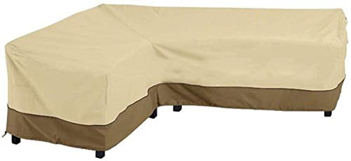 Garden L-vormige Hoekbank Waterproof Cove, Outdoor Patio Furniturer Long Sofa Cover (Color : Left Armrest Sofa Cover)