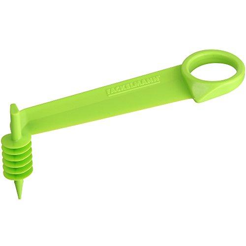 FACKELMANN Spiralschneider Gurke Gurkenspiralschneider 10,8x3,7x5cm in grün, Kunststoff, 10.8 x 5 x 3.7 cm