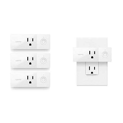 WeMo Mini Smart Plug 3-Pack, WiFi Enabled, Works Amazon Alexa The Google Assistant & Mini Smart Plug, WiFi Enabled, Works with Alexa, Google Assistant & Apple HomeKit