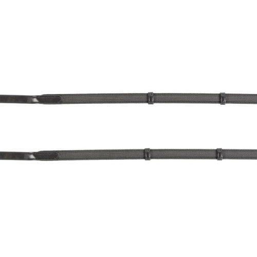 WALDHAUSEN Anti-Slip-Zügel, schwarz, 19 mm mit Karabiner, WB, schwarz, Warmblut