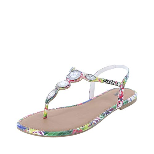 Fioni Multi Women's Palace Jewelled Flat Sandal 11 Regular