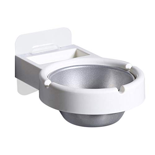 Toilet Bathroom Wall Mounted Ashtrays, Nail Free Removable Stainless Steel Ashtray Smoking Accessories for Weed for…