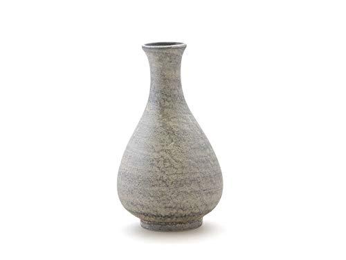 Miyazaki - Sake Karaffe Silber aus japanischem Porzellan, Geschirr-Serie Shusetsu. 170 ml. Hergestellt in Arita, Japan