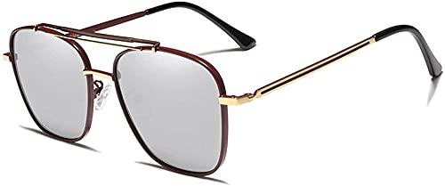 Conducción Hombre Gafas De Sol Polarizadas Gafas De Sol Gafas De Sol Gafas De Sol Uv400 Gafas De Sol Masculino, dorado y plateado,