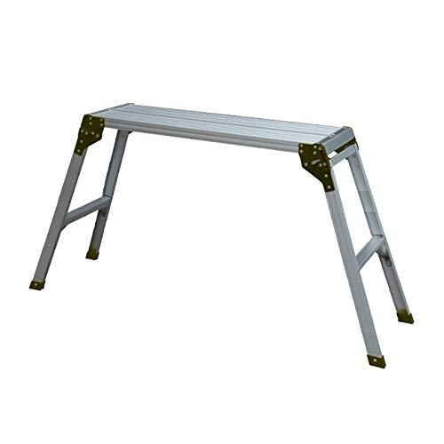 WORHAN® Plataforma de Trabajo Plegable Aluminio Podio Mesa Escalera H=75cm Compácta H2A