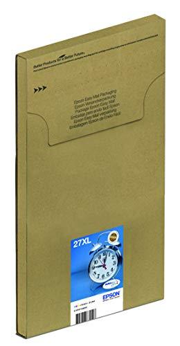 Epson 27 DURABrite Ultra, Cartuccia d'Inchiostro, Formato XL, Multipack 3 Colori, Ciano, Magenta, Giallo, Confezione EasyMail, con Amazon Dash Replenishment Ready