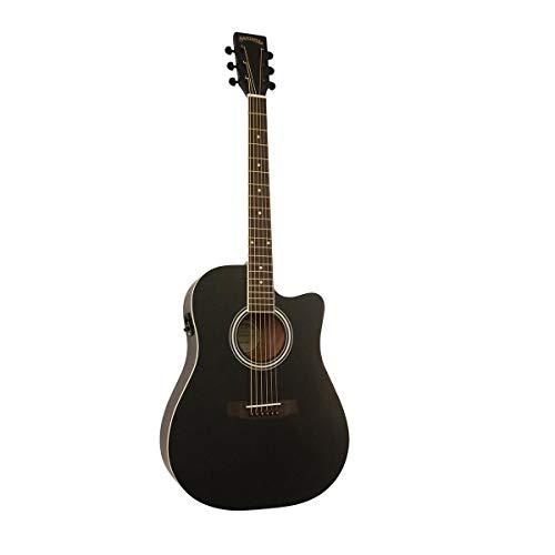 Santana ST-100EQCW SA BK v2 - Guitarra sajona, color negro