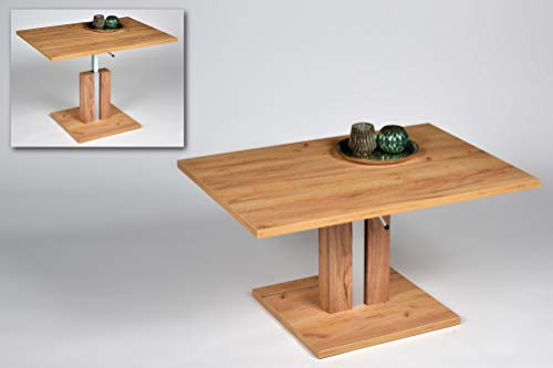 Alfa-Tische Chile Mesa de saln, Material de Madera, Roble Dorado, Mittel