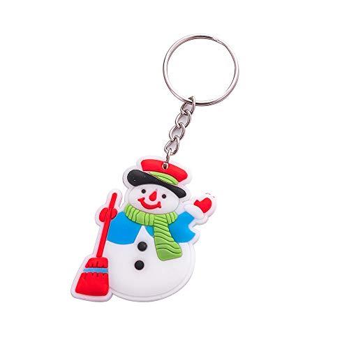 SolaXii Porte-clés de Noël Père Noël, sapin de Noël, bonhomme de neige, chaussette de Noël, porte-clés pour hommes et femmes, bijoux de Noël accessoires, e, taille unique