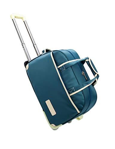 Rollende Koffer wasserdichte Travel Gepäcktasche - Unisex Business Verdicken Rollen Handtasche(Blau)