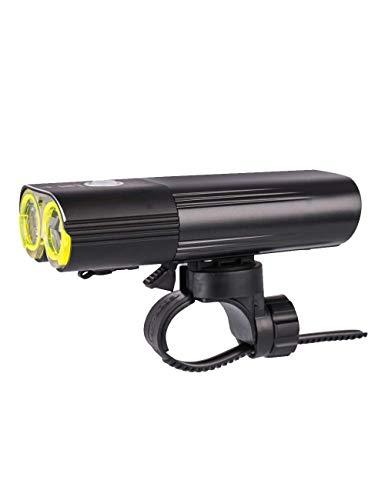 SMX oplaadbare 1600-USB-fietslamp - geschikt voor alle fietsen, hybride, road, met snelsluiting