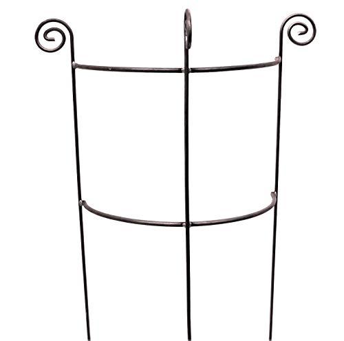 Hirsch Terracotta Staudenhalter halbrund stabil Höhe 116cm, Breite 45cm Vollmaterial Rankhilfe Pflanzstütze Rankgitter