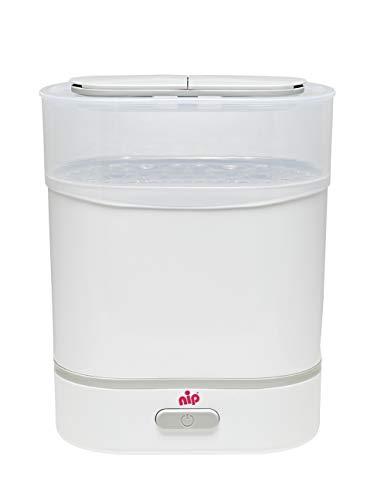 nip Vaporisator 3in1: Sterilisator, Dampfgarer & Flaschenwärmer mit Signalfunktion, Abschaltautomatik, BPA-Frei