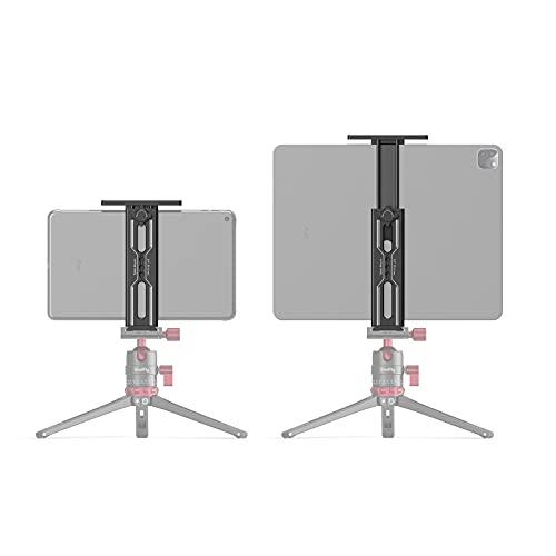 SMALLRIG Aluminium iPad Stativhalterung kompatibel mit iPads oder Tablets StativAdapterhalter mit 2 kaltem Schuh