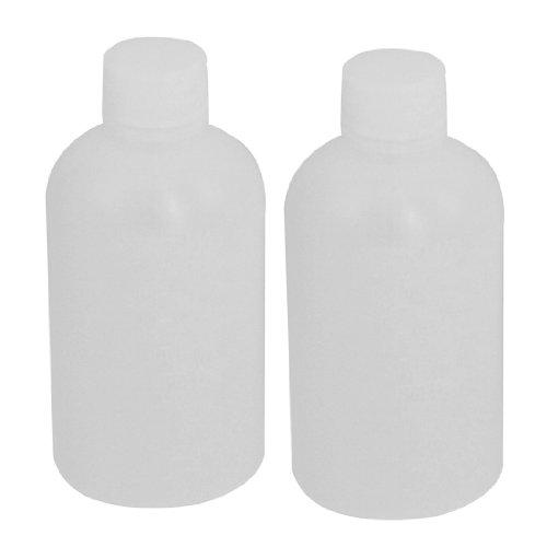 sourcing map 100ml clair plastique cylindre forme chimique Agent bouteille 2 Pcs