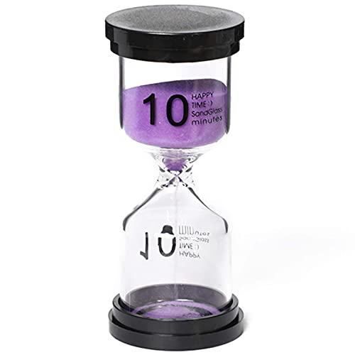 Temporizador de arena, temporizador de arena, temporizador de arena, temporizador de reloj de arena, reloj de arena, paquete de 5, temporizador de reloj de arena de plástico redondo, 3/5/10/15/30 min