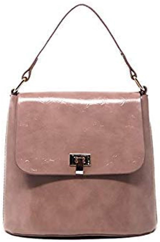 Bloomerang Herald Fashion Large Capacity Bucket Bag Women's Handbags Quality Leather Female Shoulder Bag Ladies Messenger Bag Crossbady Bag color Pink 20x18x12cm