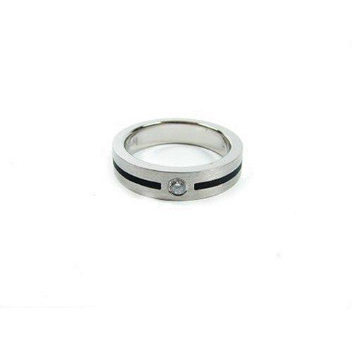 Bruno Banani 925/-Silber Ring platiniert Weite 59 42/02789