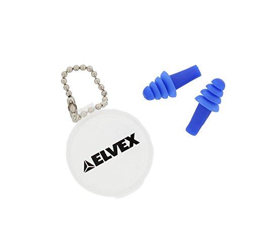 Elvex EP-402 Quattro Un-Corded Reusable Ear Plugs w/ Plastic Carrying Case/Chain