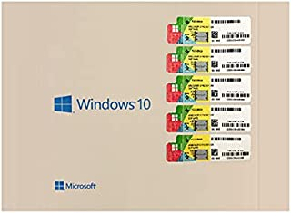 ميكروسوفت ويندوز 10 برو 64 بت اسطوانة واحدة وخمسة مفتاح التفعيل