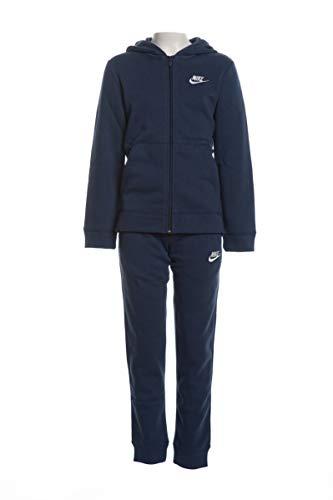 Nike U NSW Core BF TRK Suit Survêtement Garçon, Midnight Navy/Midnight Navy/Midnight Navy/(White), FR (Taille Fabricant : XL)
