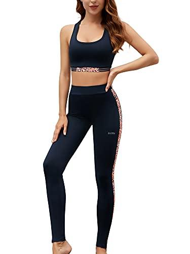 Funthing Tuta Sportiva Set Donna Abbigliamento Sportivo T-Shirt 5set Suit Sport Yoga Tuta da Ginnastica con Cappuccio Felpa Tops Pantaloni Jogging Manica