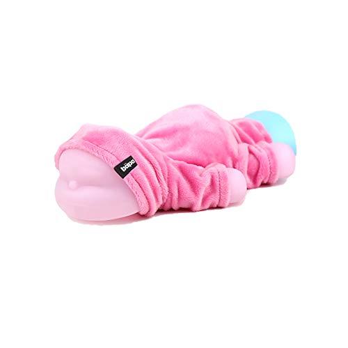 ZYBC Mini-Silikon-Wärmflasche, Kinder-Heißwasserbeutel mit Fleece-Abdeckung Mikrowellenheizung Reise-Heiß- und Kaltflasche für Hand Fuß Körper Warmhalten und Schmerzlinderung (425 ml)