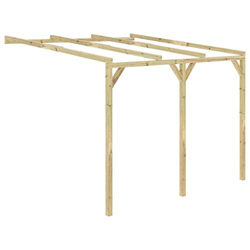 SKM Lean-To Pergola 3x3x2.1 m Wood