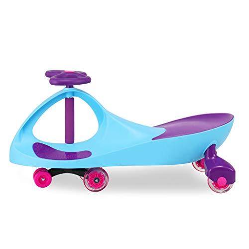 Enfants Twist Car Universal Wheel Yo Car 1-3 Ans Hommes Et Femmes Bébé Scooter Balançoire Voiture FANJIANI (Couleur : Bleu Clair, Taille : Flash Wheel)