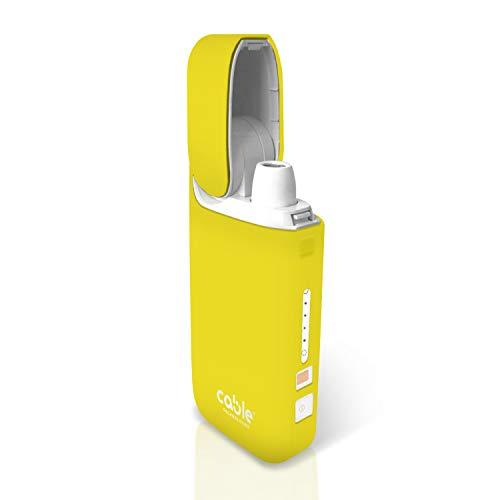 Cable Technologies Soft Case para IQOS® Pocket Charger, compatible con IQOS® 2.4 Plus, Funda de protección blanda para Pocket Charger Silicona Soft Touch Cover (Lemonade)
