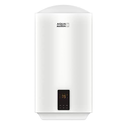 Aquamarin® Elektro Warmwasserspeicher - 30/50/80/100 L, 2 kW, Wandhängend, Smart, EEK A/B, emaillierter Innenbehälter - Boiler, Warmwasserboiler, Elektrospeicher, Heizung, Speicher (50 L)