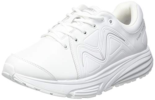 MBT Damen Simba Trainer W Sneaker, White/Silver, 42.5 EU