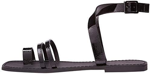 find. Sandali con Cinturino alla Caviglia Donna, Nero (Black Black), 41 EU