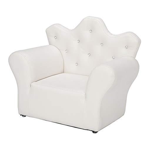 Udfybre Linda corona Sofás niños respaldo sofá alta resistencia esponja relleno PVC cuero silla niños habitación bebé muebles salón reloj TV sofá perezoso