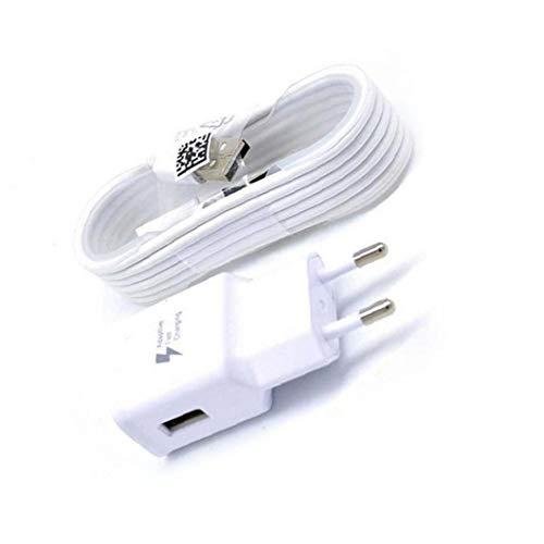 Naicasy Fast adaptativa Cargador Micro USB 2.0 Cable Kit de Carga rápida Adaptador de Pared para Samsung Galaxy S7 con 4,9 pies (1,5 Metros) de Cable de Estados Unidos Versión-White