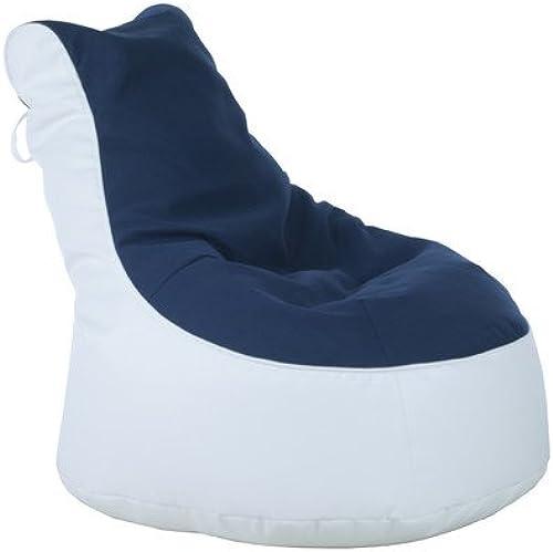 Sitzsack Lotos-Genua Farbe (Genua)  Blau, Farbe (Lotos)  Weiß